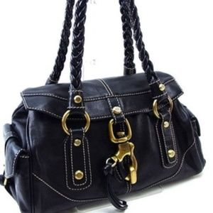 Francesco Biasia Black Hobo Shoulder Bag